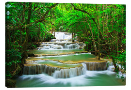 Canvas print  Lush river landscape
