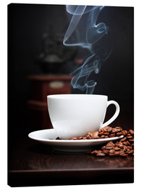 Canvas print  Steaming coffee cup