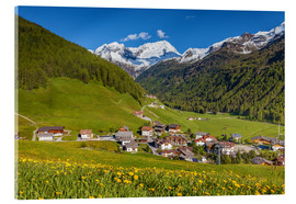 Acrylic print  Idyllic mountain village Rein in Taufers in South Tyrol - Christian Müringer