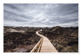 Premium poster Island routes on Amrum