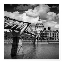 Premium poster  LONDON Millennium Bridge and St Paul's Cathedral - Melanie Viola