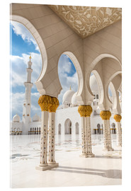 Acrylic print  View of Sheikh Zayed Grand Mosque
