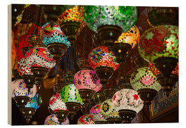 Wood print  Traditional turkish lamps