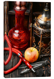 Canvas print  Hookah tobacco with apple
