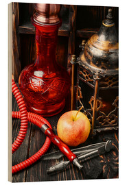 Wood print  Hookah tobacco with apple