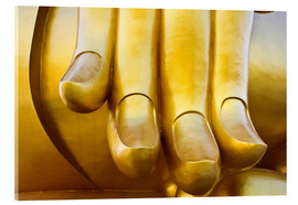 Acrylic glass  Fingers of the Buddha