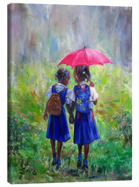 Canvas print  magenta umbrella - Jonathan Guy-Gladding