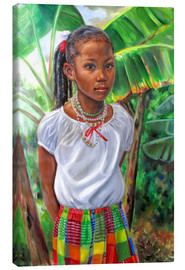 Canvas print  kejeem with banana tree - Jonathan Guy-Gladding