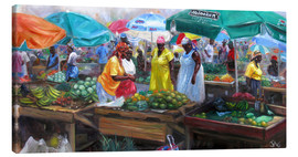 Canvas print  castries market - Jonathan Guy-Gladding