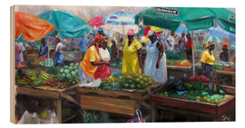 Wood print  castries market - Jonathan Guy-Gladding
