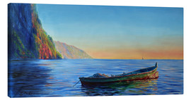Canvas print  base of petit piton with gommier boat - Jonathan Guy-Gladding