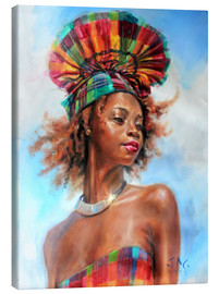 Canvas print  wenia with fanhat 1 - Jonathan Guy-Gladding