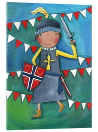 Acrylic glass  Little Knight Balduin - Atelier BuntePunkt
