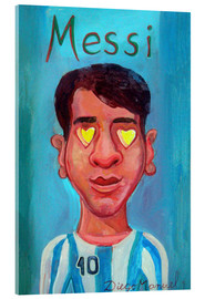 Acrylic print  Messi and heart - Diego Manuel Rodriguez