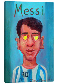 Canvas print  Messi and heart - Diego Manuel Rodriguez