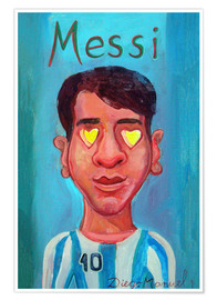 Premium poster Messi and heart