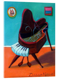 Acrylic print  house piano - Diego Manuel Rodriguez