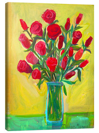Canvas print  Red roses III - Diego Manuel Rodriguez