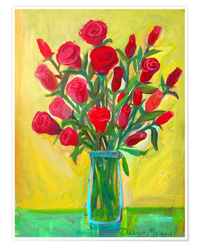 Poster Red roses III