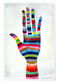 Premium poster  The hand 4 - Diego Manuel Rodriguez