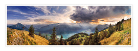 Premium poster  Rofangebirge with Achensee - Michael Rucker