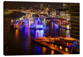 Canvas print  Hamburg - View from Elbphilharmonie in den Hafen - Sabine Wagner