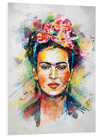 Foam board print  Frida Flower Pop - Tracie Andrews