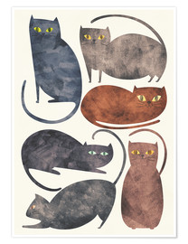 Premium poster  Cats - Tracie Andrews