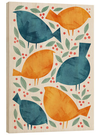 Wood print  Birds - Tracie Andrews