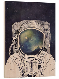 Wood print  Dreaming of Space - Tracie Andrews