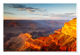 Premium poster Sunset on Grand Canyon South Rim, USA