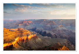 Premium poster Sunrise of Grand Canyon South Rim, USA