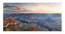 Premium poster Panoramic sunrise of Grand Canyon, Arizona, USA