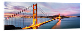 Acrylic print  Panoramic of Golden gate bridge, San Francisco, USA - Matteo Colombo