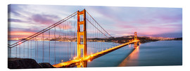 Canvas  Panoramic of Golden gate bridge, San Francisco, USA - Matteo Colombo