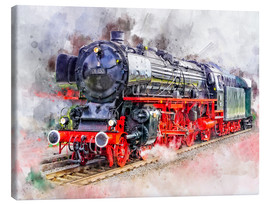 Canvas  Train Locomotive Deutsche Reichsbahn for the express service class 01 - Peter Roder