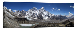 Canvas print  Sagarmatha National Park Panorama - Gerhard Albicker