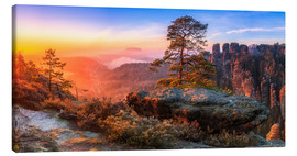 Canvas print  View into the Saxon Switzerland III - Moqui, Daniela Beyer