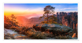 Premium poster View of the Saxon Switzerland III