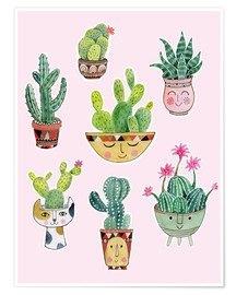 Poster funny succulents