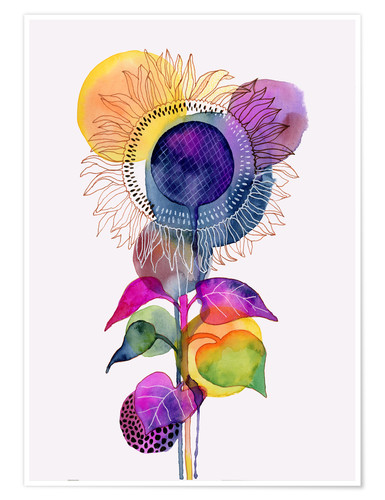 Premium poster Sunflower abstract
