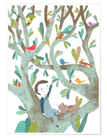 Poster  In The Tree - Judith Loske