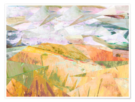 Premium poster Wheatfields in Summer