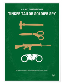 Premium poster No787 My Tinker Tailor Soldier Spy minimal movie poster