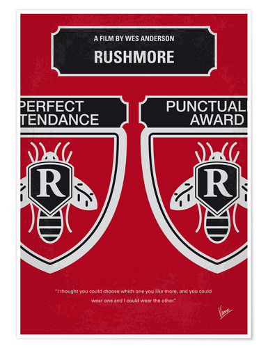 Premium poster No791 My Rushmore minimal movie poster