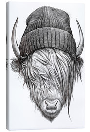 Canvas print  Bull in a hat - Nikita Korenkov