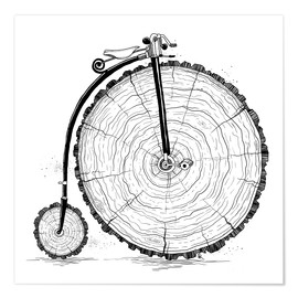 Premium poster Wooden bicycle