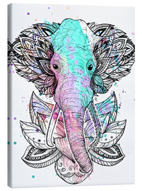 Canvas print  Elephant in the lotus - Nikita Korenkov