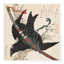 Premium poster The little raven with the minamoto clan sword