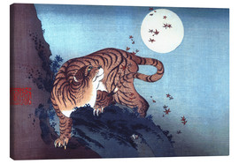 Katsushika Hokusai - The Tiger and the Moon
